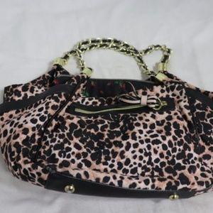 Betsey Johnson Tan/Black Cheetah Bag